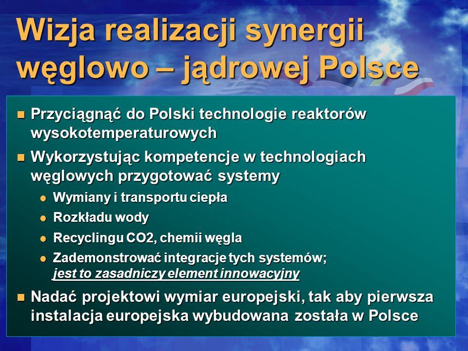 Wizja realizacji synergii węglowo – jądrowej Polsce