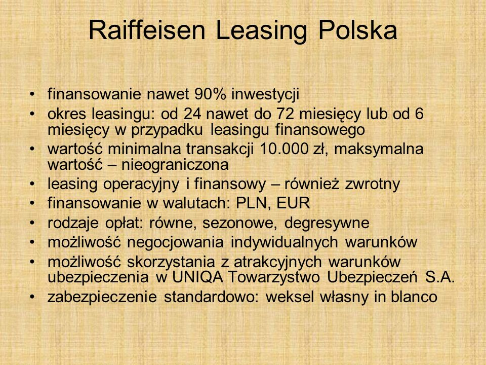 Raiffeisen Leasing Polska