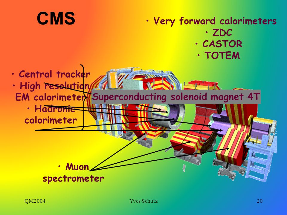 CMS Very forward calorimeters ZDC CASTOR TOTEM Central tracker