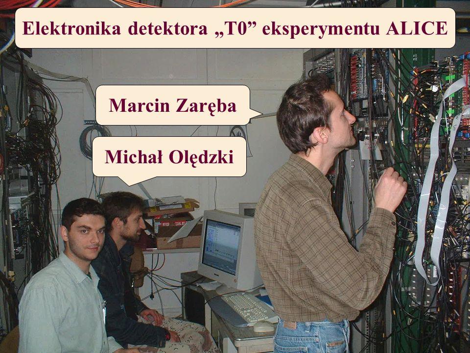 """Elektronika detektora """"T0 eksperymentu ALICE"""