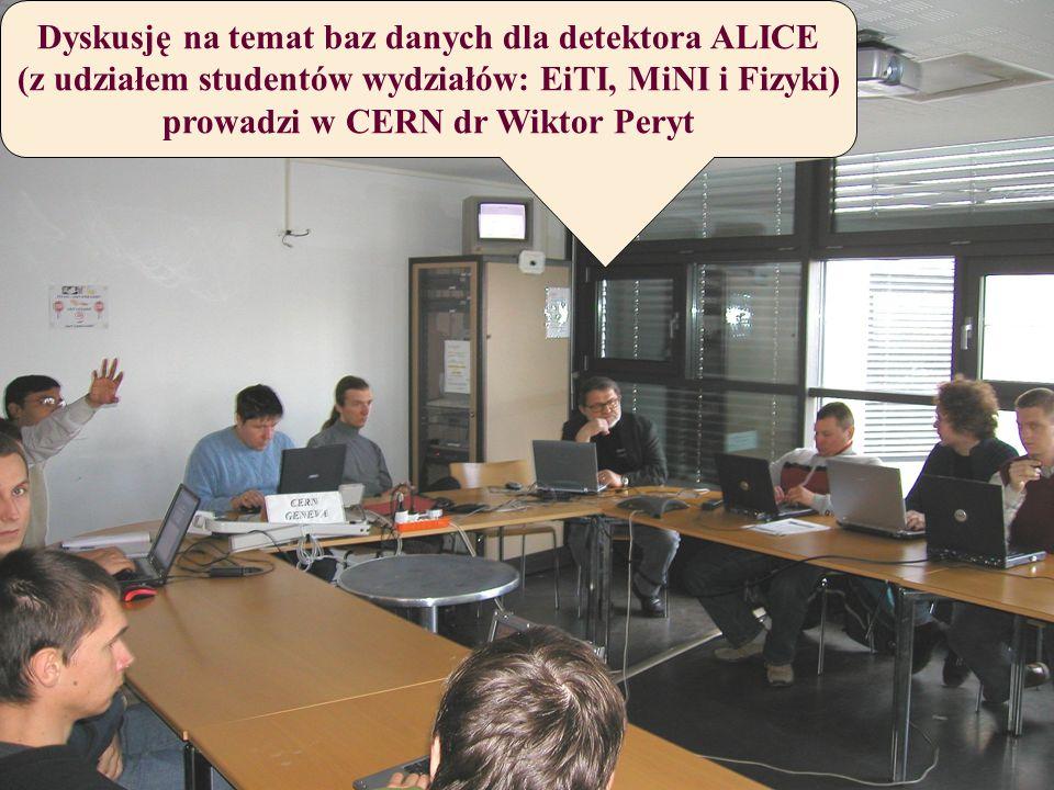Dyskusję na temat baz danych dla detektora ALICE