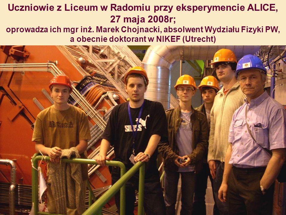 Uczniowie z Liceum w Radomiu przy eksperymencie ALICE, 27 maja 2008r;