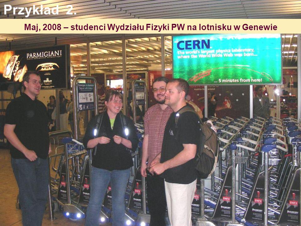 Maj, 2008 – studenci Wydziału Fizyki PW na lotnisku w Genewie