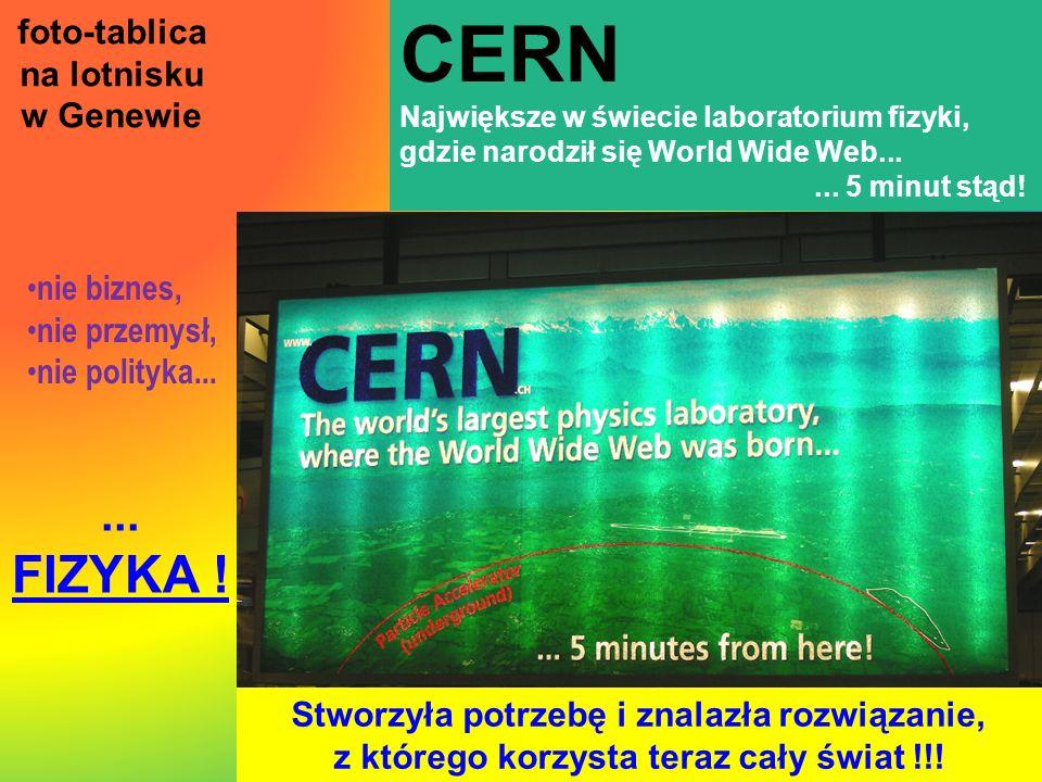 CERN FIZYKA ! ... foto-tablica na lotnisku w Genewie nie biznes,