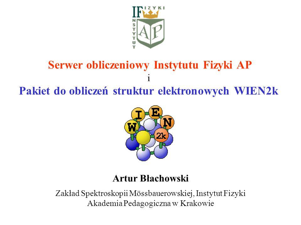 Serwer obliczeniowy Instytutu Fizyki AP