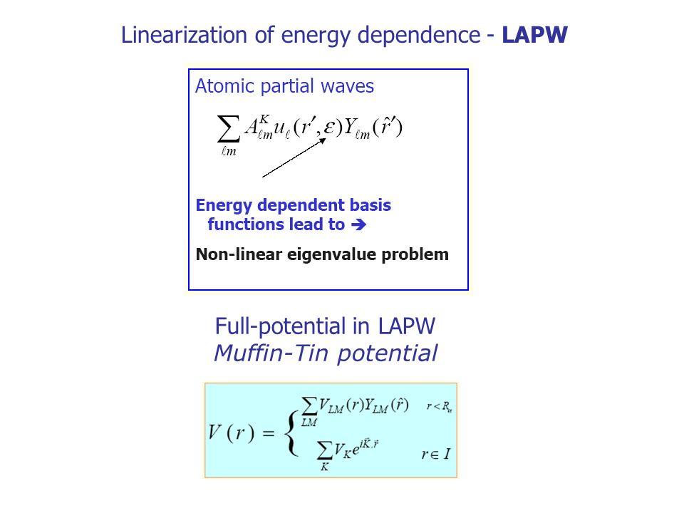 Full-potential in LAPW