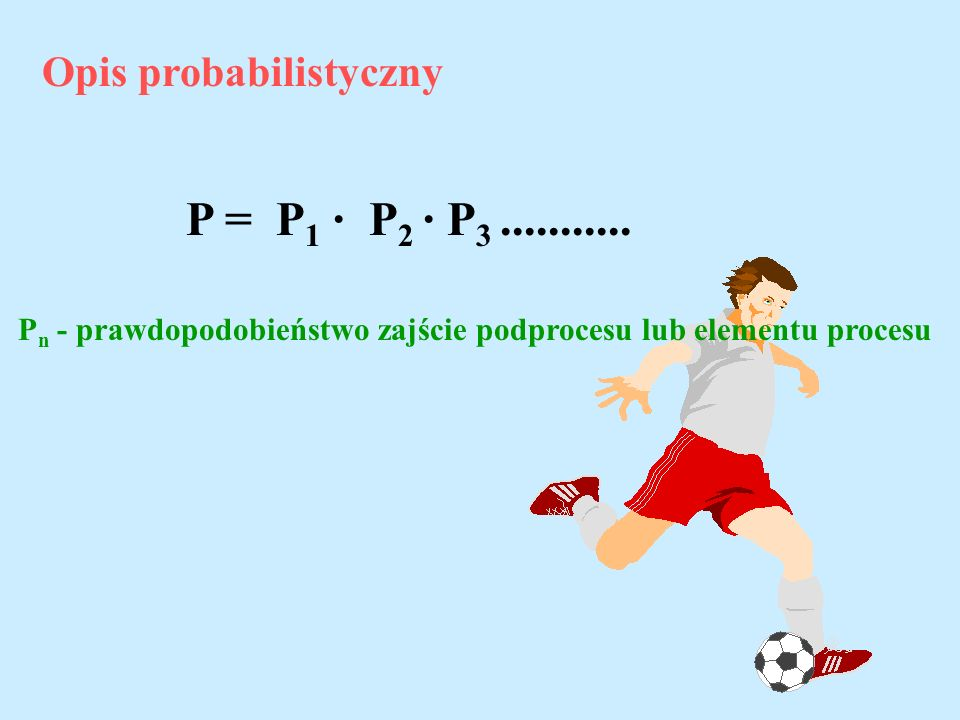 P = P1 · P2 · P3 ........... Opis probabilistyczny