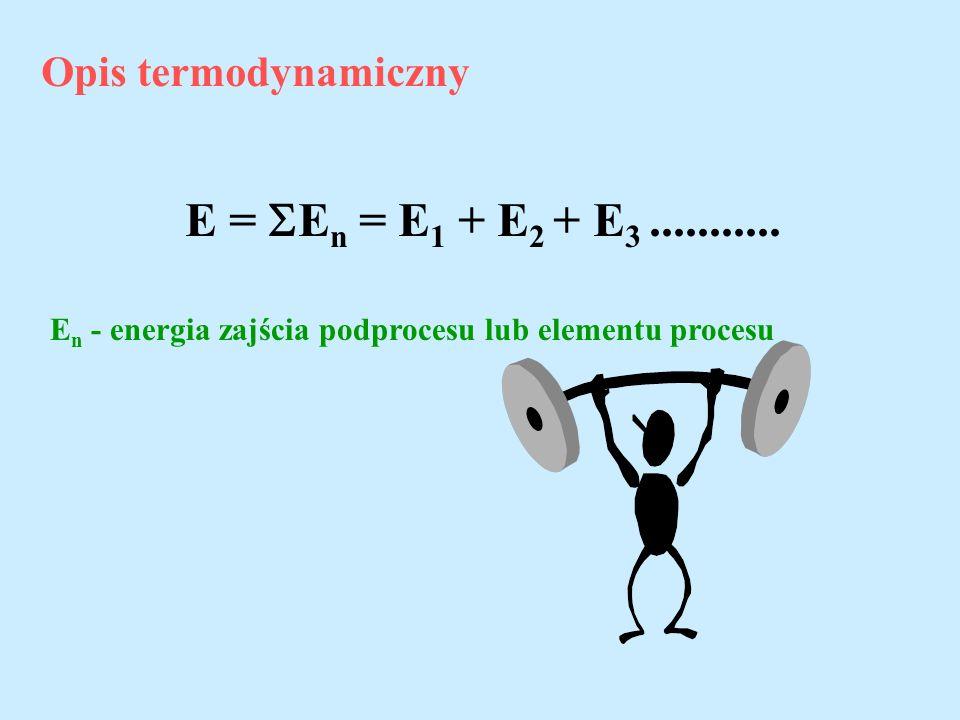 E = En = E1 + E2 + E3 ........... Opis termodynamiczny