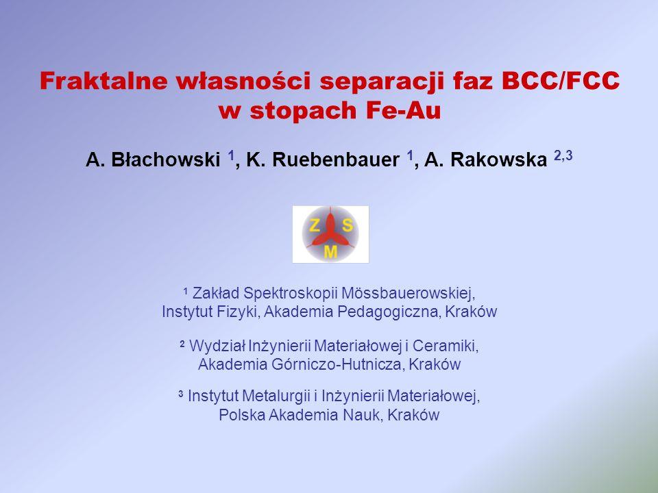 A. Błachowski 1, K. Ruebenbauer 1, A. Rakowska 2,3