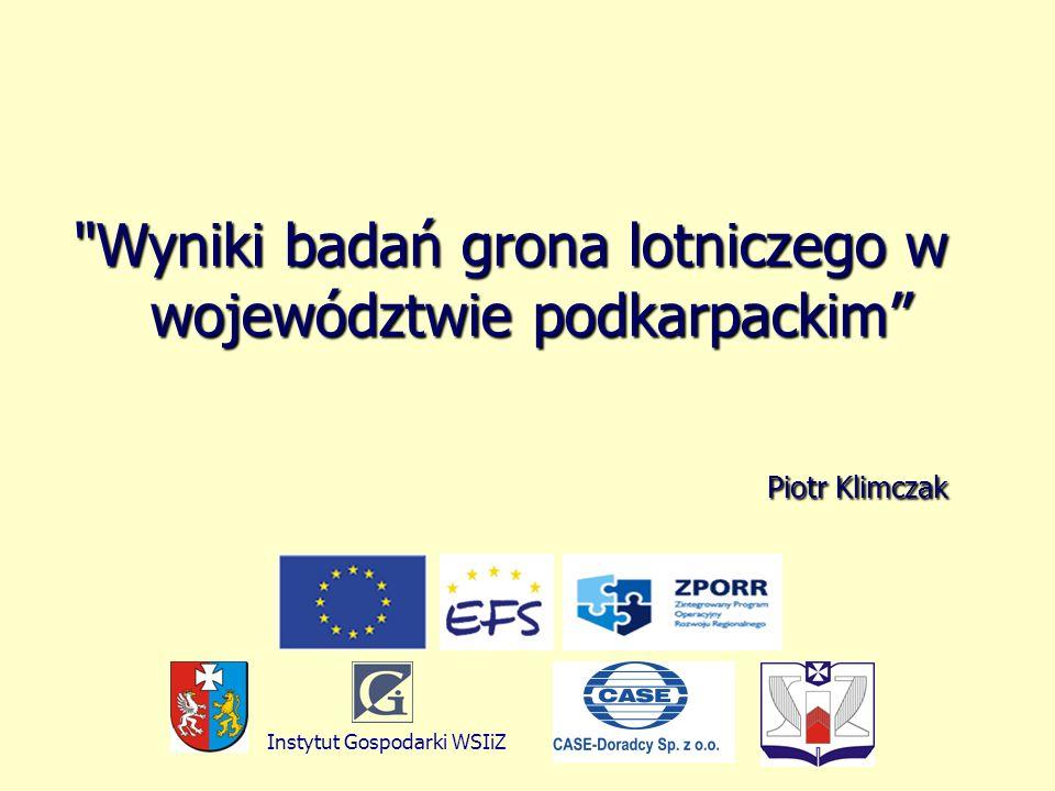 Wyniki badań grona lotniczego w województwie podkarpackim