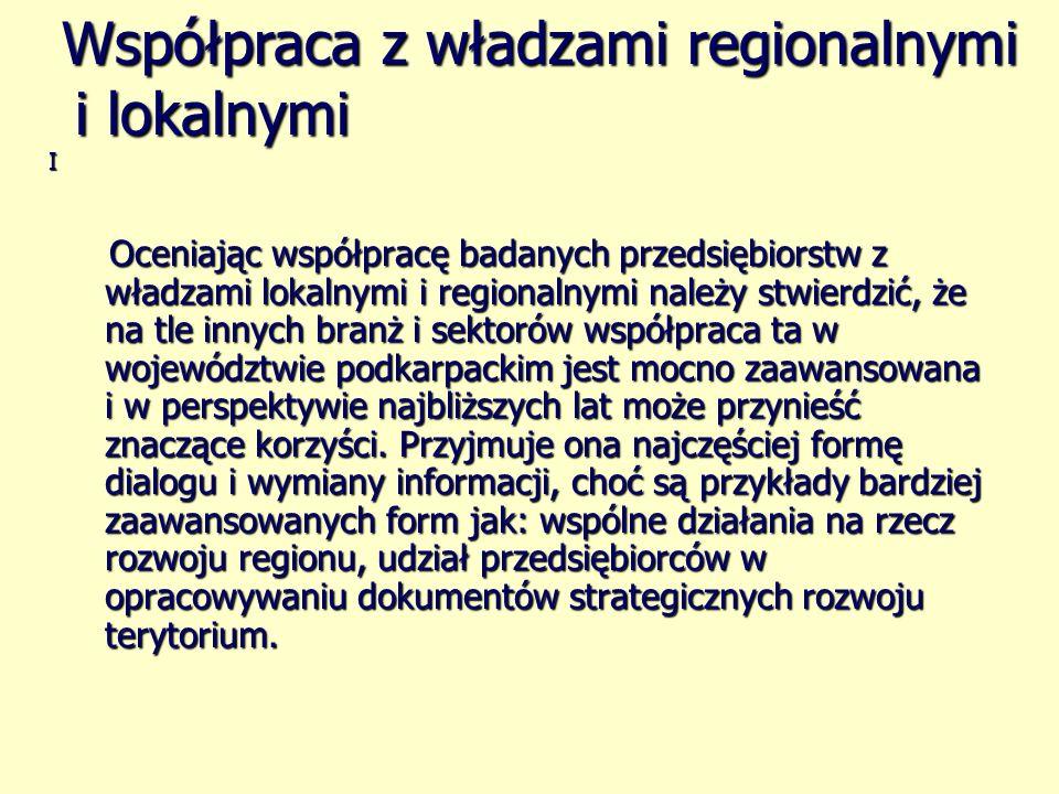 Współpraca z władzami regionalnymi i lokalnymi