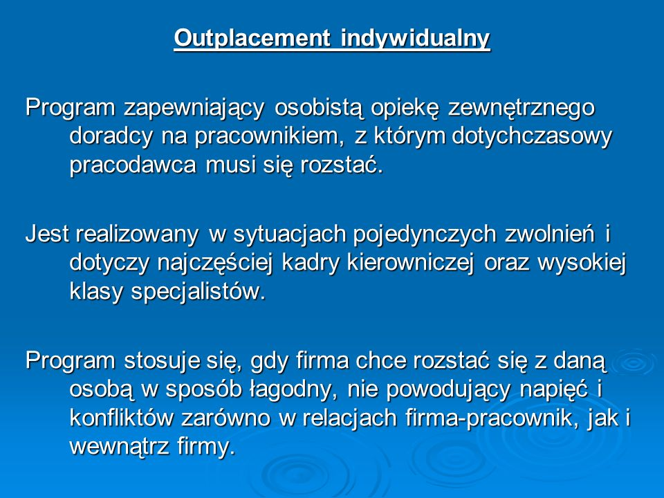 Outplacement indywidualny