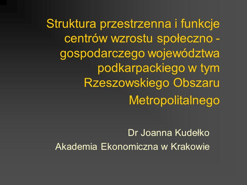 Dr Joanna Kudełko Akademia Ekonomiczna w Krakowie