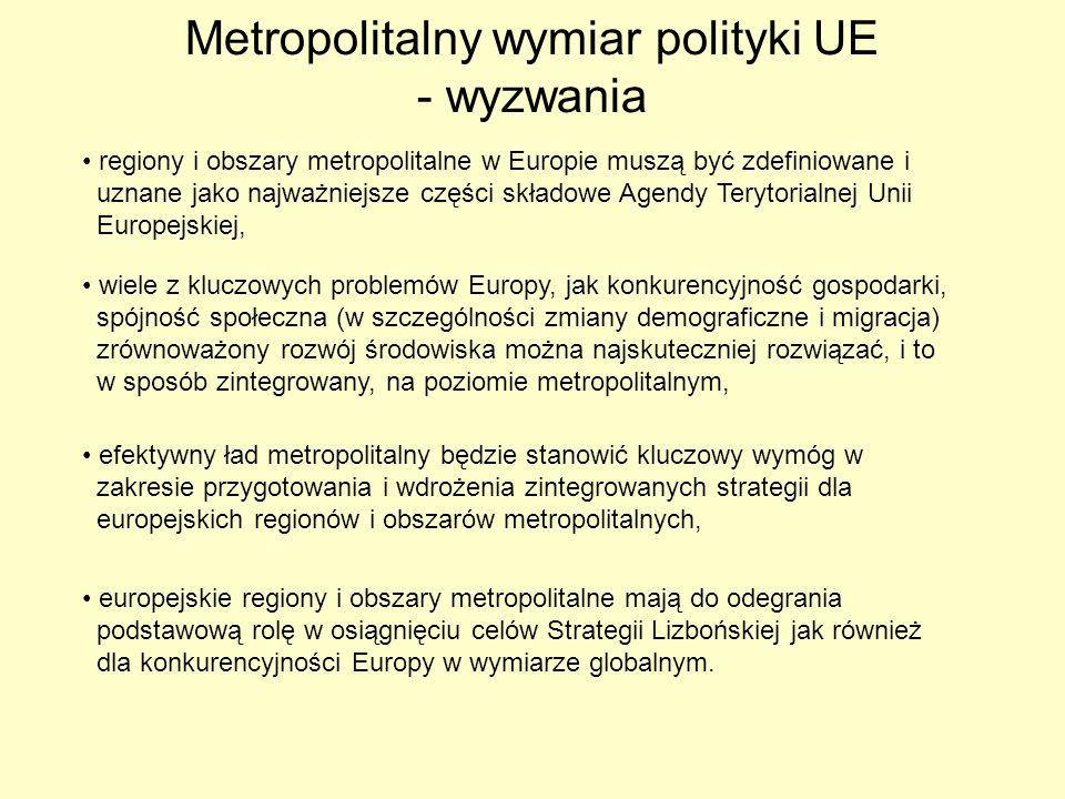 Metropolitalny wymiar polityki UE - wyzwania