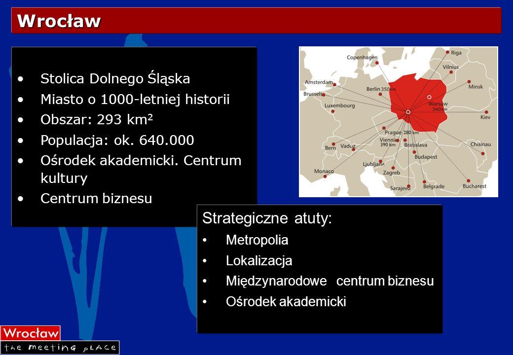 Wrocław Strategiczne atuty: Stolica Dolnego Śląska