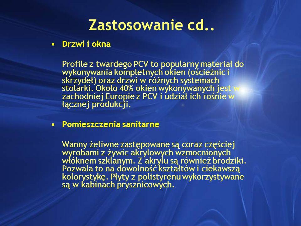 Zastosowanie cd.. Drzwi i okna