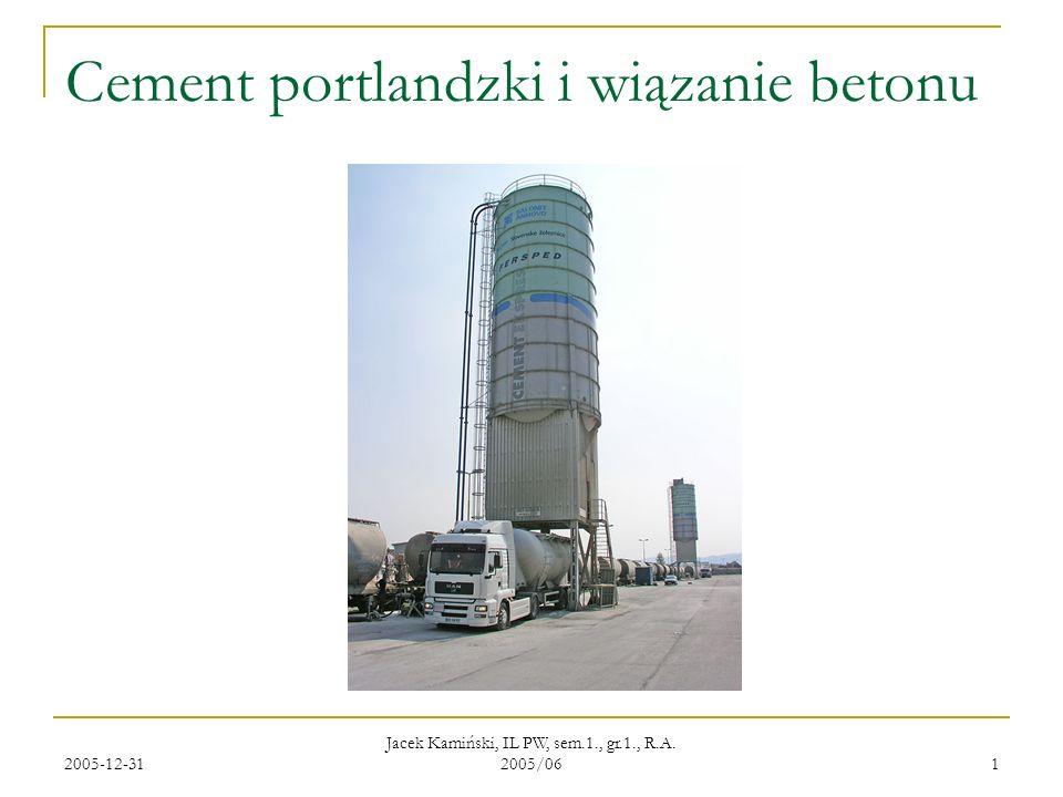 Cement portlandzki i wiązanie betonu