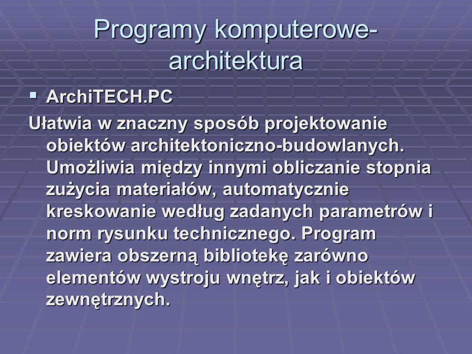 Programy komputerowe-architektura