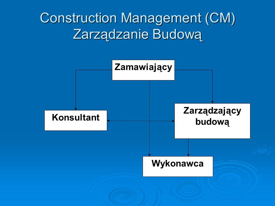 Construction Management (CM) Zarządzanie Budową