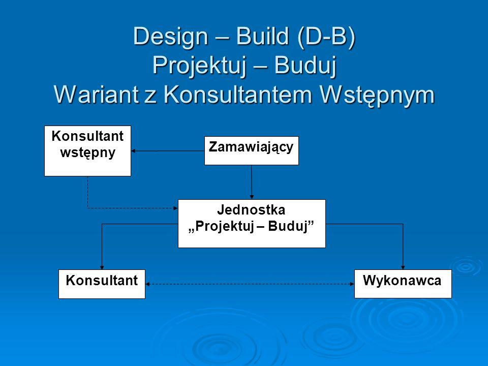 Design – Build (D-B) Projektuj – Buduj Wariant z Konsultantem Wstępnym