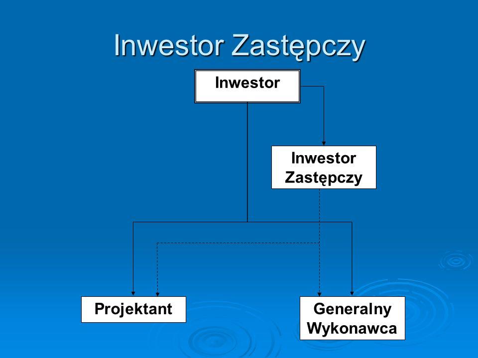 Inwestor Zastępczy Inwestor Zastępczy Projektant Generalny Wykonawca