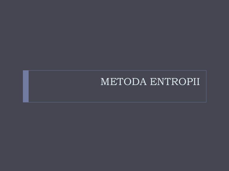 METODA ENTROPII