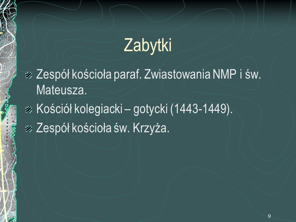 Zabytki Zespół kościoła paraf. Zwiastowania NMP i św. Mateusza.