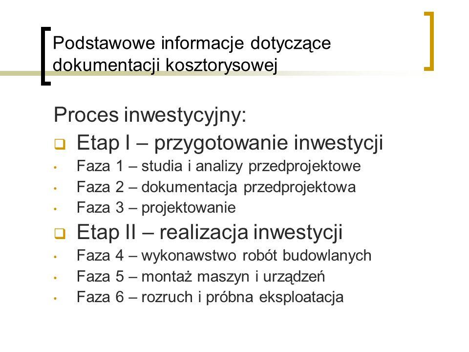 Podstawowe informacje dotyczące dokumentacji kosztorysowej