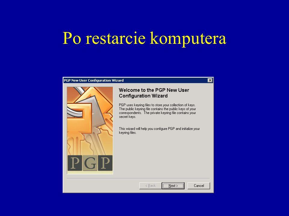 Po restarcie komputera