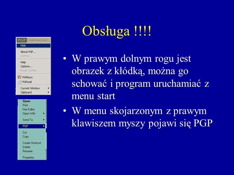 Obsługa !!!! W prawym dolnym rogu jest obrazek z kłódką, można go schować i program uruchamiać z menu start.