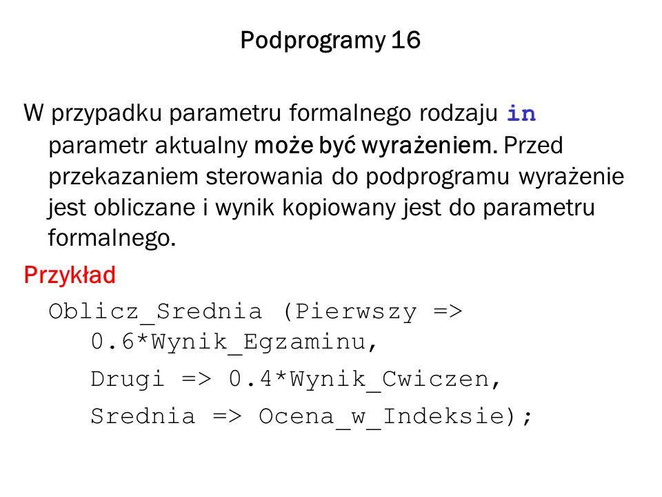 Podprogramy 16