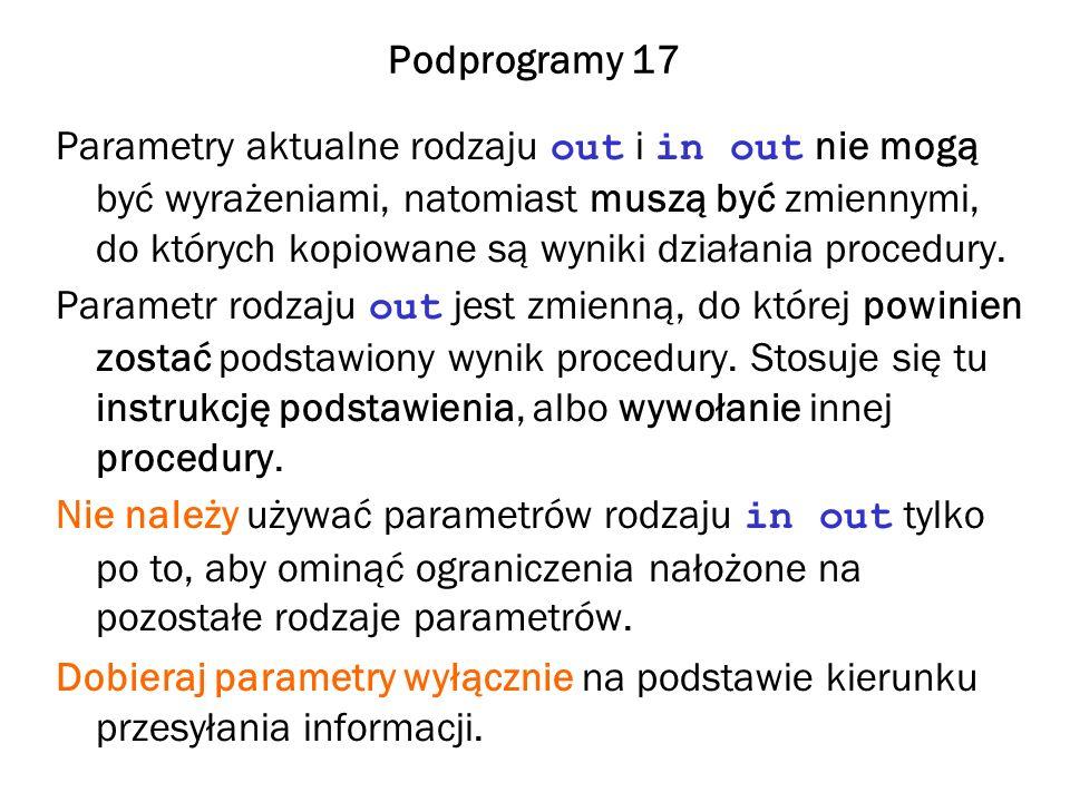 Podprogramy 17