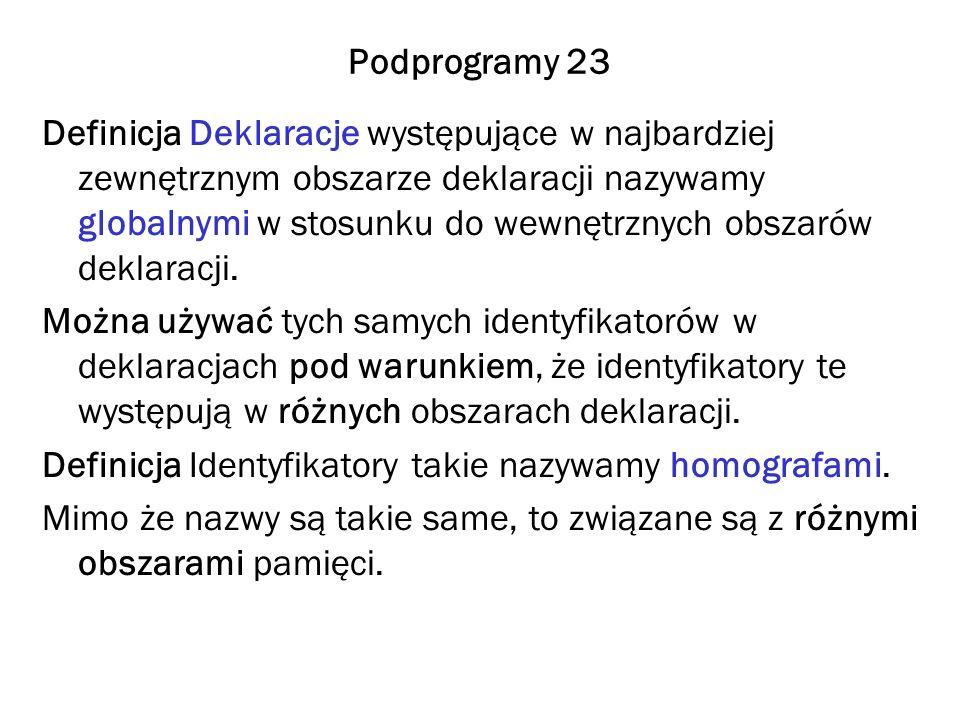 Podprogramy 23
