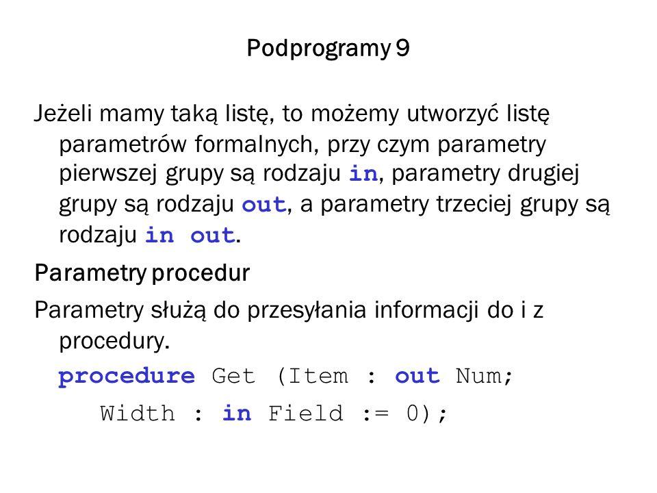 Podprogramy 9