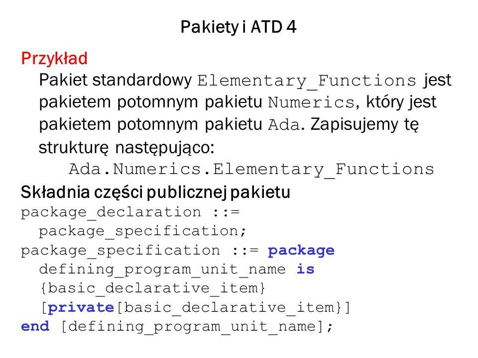 Ada.Numerics.Elementary_Functions Składnia części publicznej pakietu