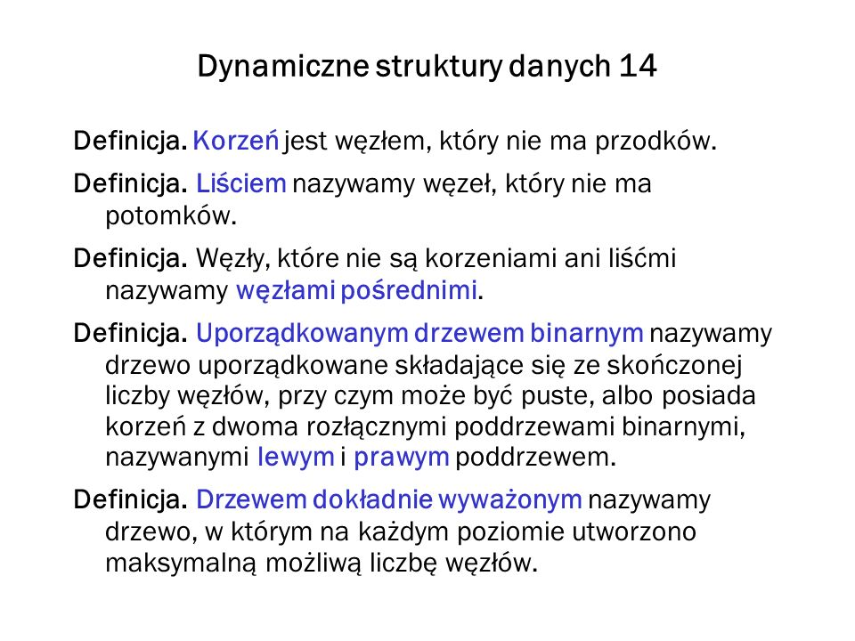 Dynamiczne struktury danych 14