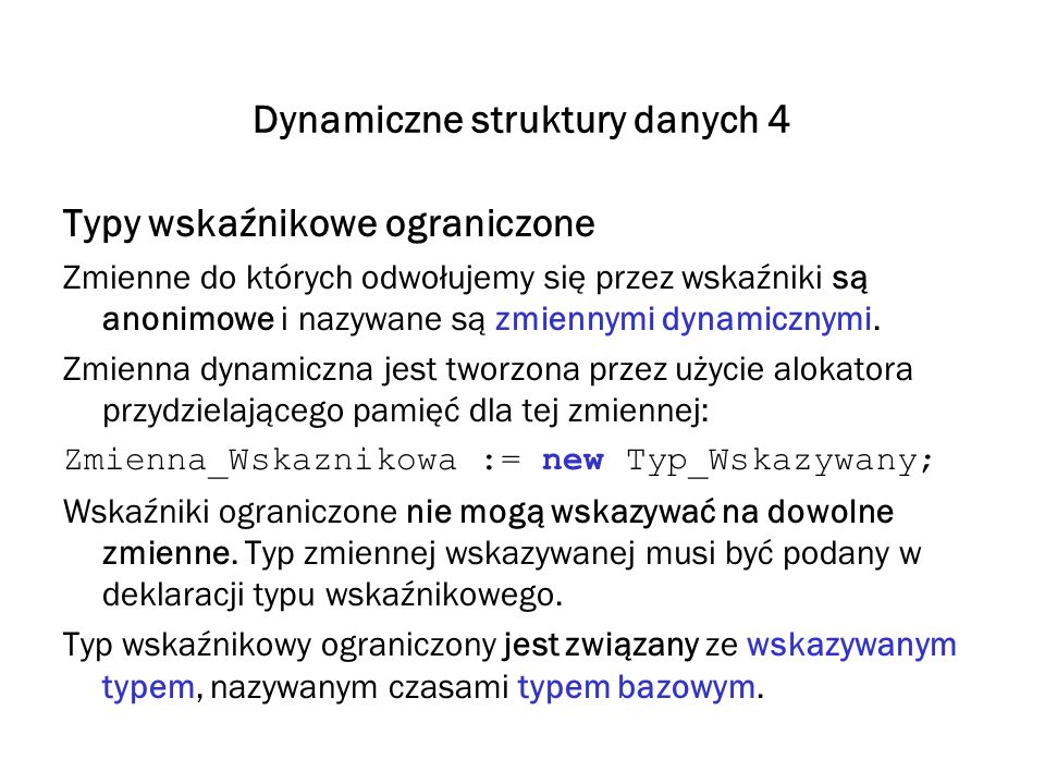 Dynamiczne struktury danych 4