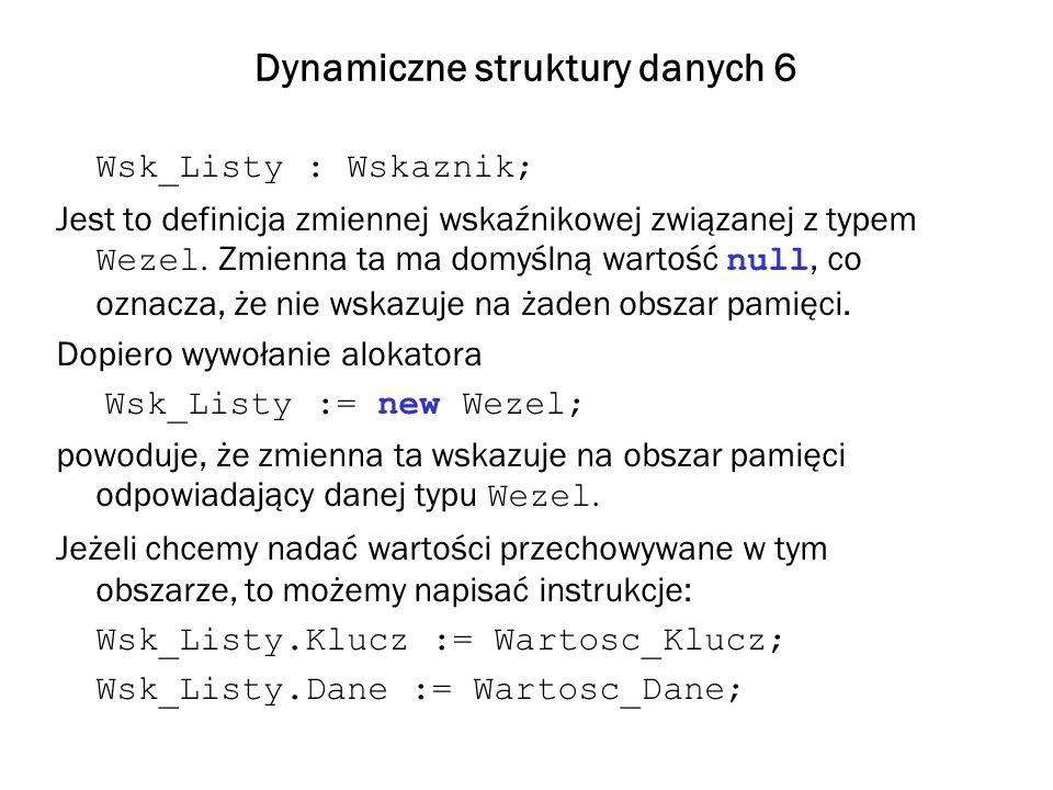 Dynamiczne struktury danych 6