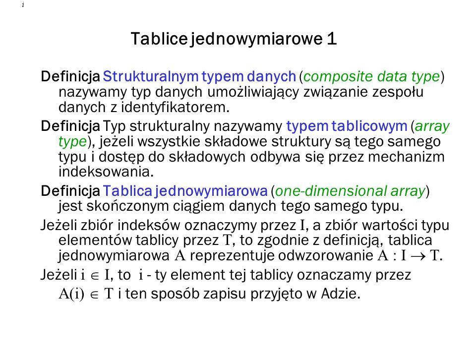 Tablice jednowymiarowe 1