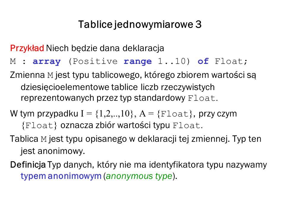 Tablice jednowymiarowe 3