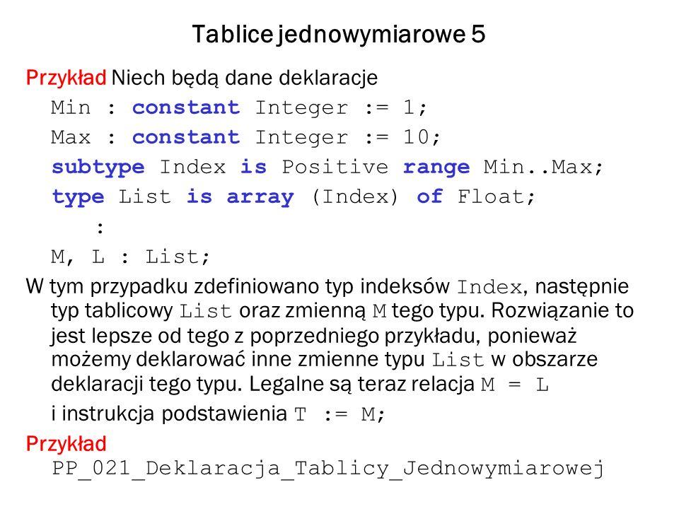 Tablice jednowymiarowe 5