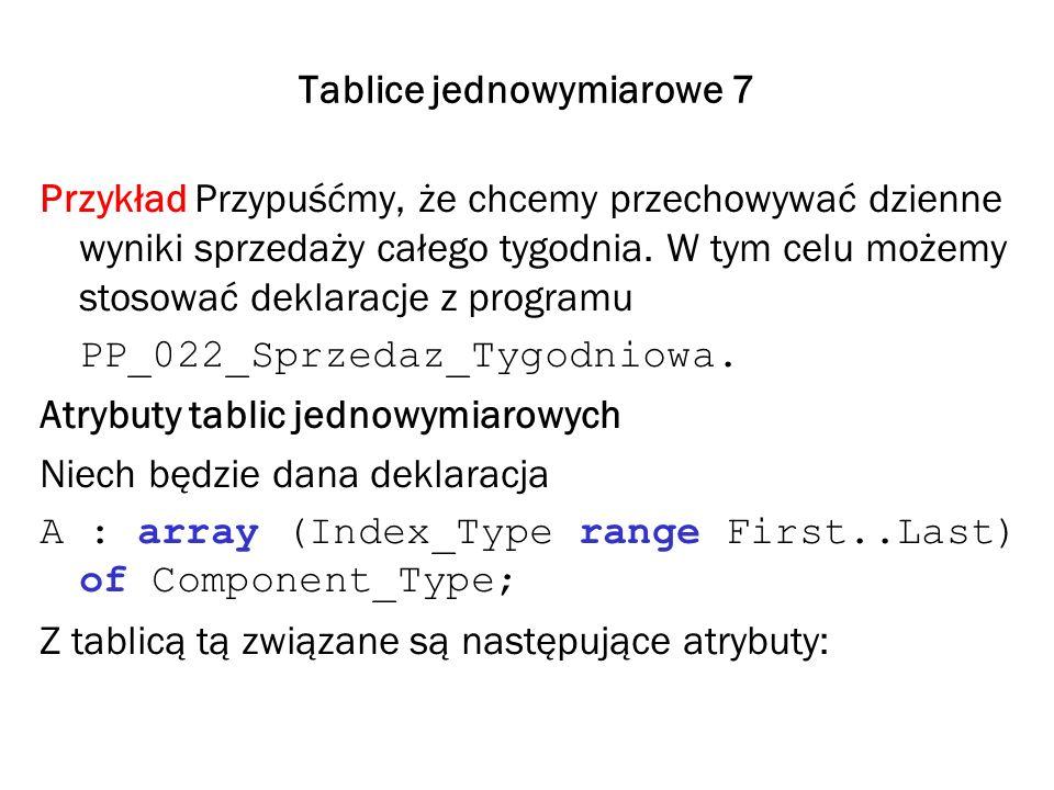 Tablice jednowymiarowe 7