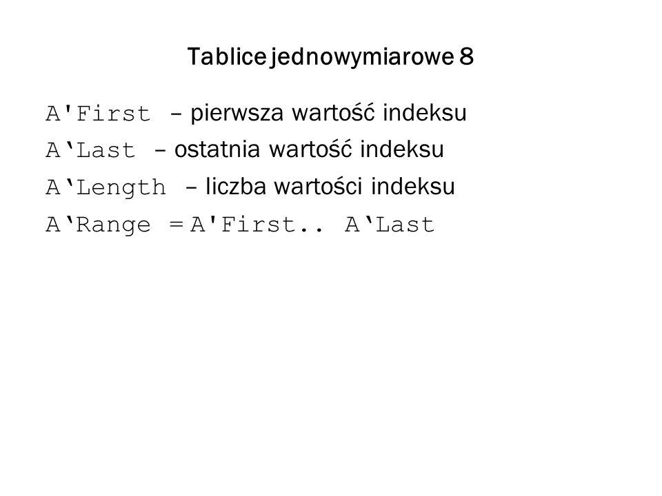 Tablice jednowymiarowe 8