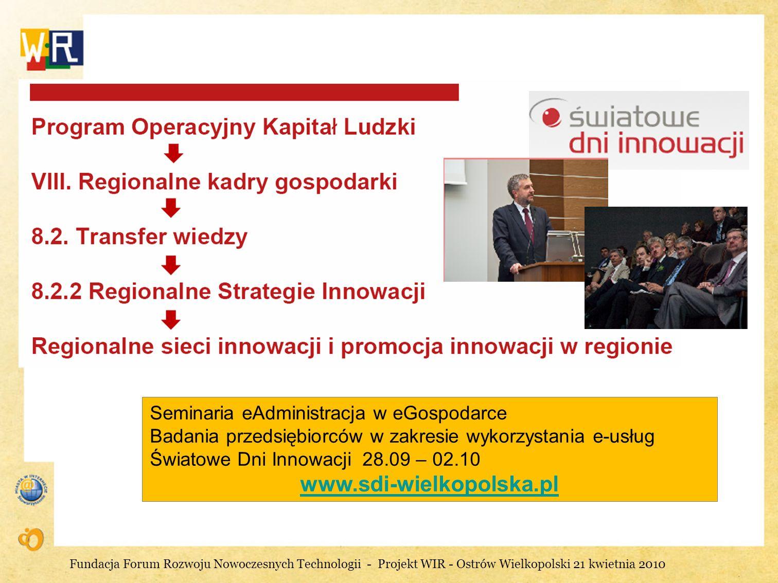 Działania Urzędu Marszałkowskiego na rzecz innowacji