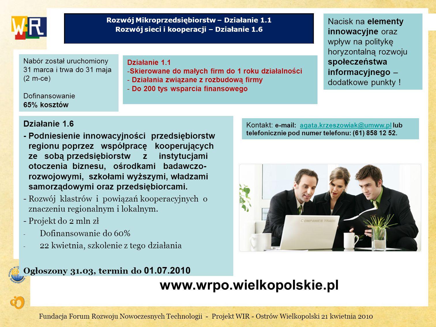 Rozwój Mikroprzedsiębiorstw – Działanie 1.1