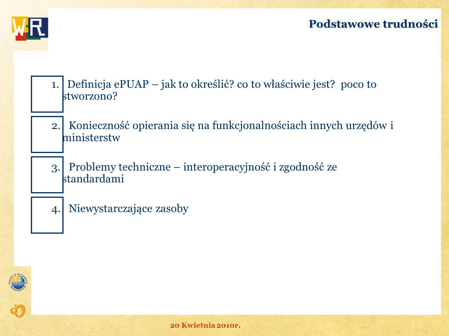3. Problemy techniczne – interoperacyjność i zgodność ze standardami
