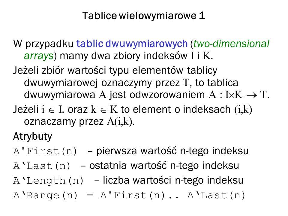 Tablice wielowymiarowe 1