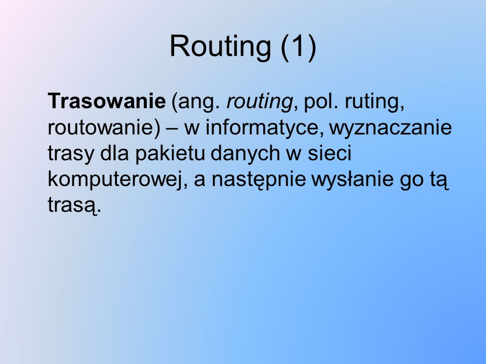 Routing (1)