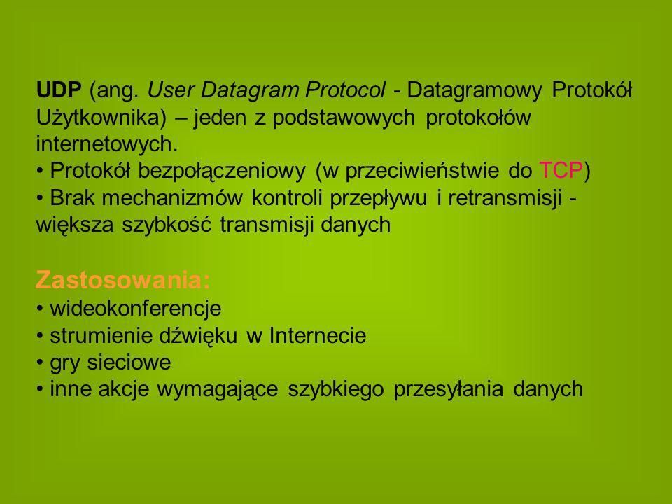 UDP (ang. User Datagram Protocol - Datagramowy Protokół Użytkownika) – jeden z podstawowych protokołów internetowych.