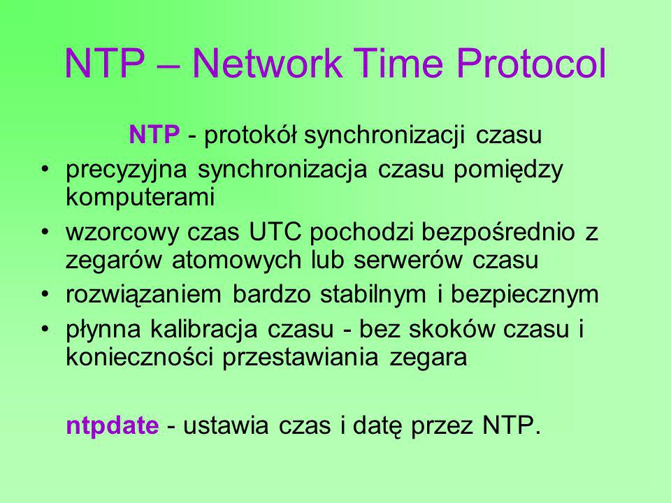 NTP – Network Time Protocol